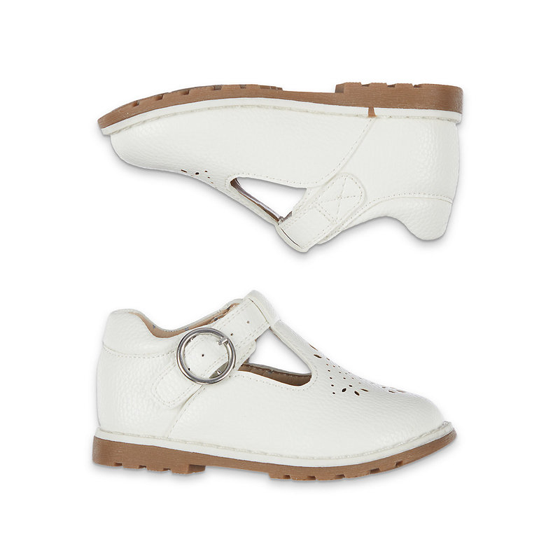 Buy First Walker White T-Bar Shoes