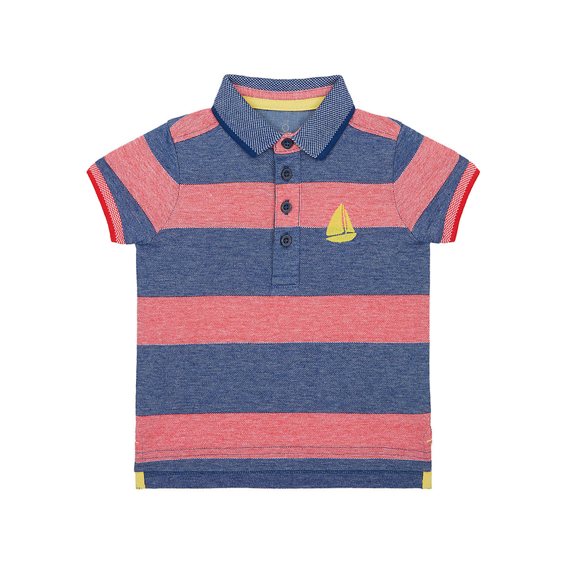 - striped embroidered yacht polo shirt